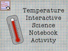 Temperature Interactive Science Notebook Page Freebie