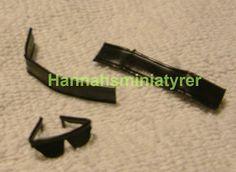 Hannahsminiatyrer: Tips: making sun glasses from tie-wraps