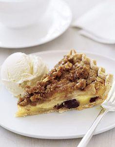 Apple Custard Pie with Cinnamon Streusel   #thankgving #apple #applepie #foodiefiles Pin it to Save it!