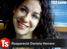 Reapareció Daniela Herrero