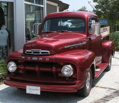 Red ford pickup!