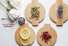 Exotic Herbal Iced Tea Recipes / Try these healthy iced-teas that have a multitude of benefits like: metabolism-boosting, anti-inflammatory, healthy digestion, skin clarifying.