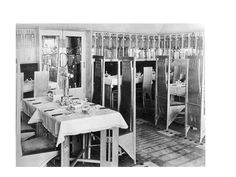 Interior image of the Willow Tea Rooms in Glasgow 1903 as designed by Charles Rennie Mackintosh.