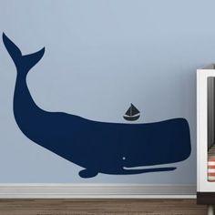 nautic nurseri, nurseries, kid decor, wall decals, whale decal, boy rooms, sailboat, nurseri idea, kid room