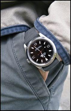 Rolex Explorer on a NATO strap