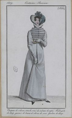Redingote de drap 1819 costume parisien