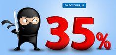 35% off ALL #TemplateMonster web templates! Only today!  http://www.templateninjas.com/