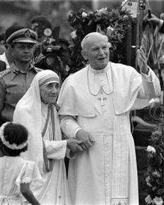 Pope John Paul II and Mother Theresa