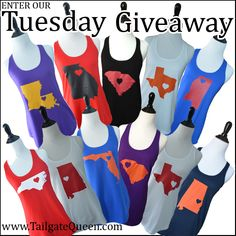 State Love Tank GIVEAWAY!!! ENTER TODAY www.TailgateQueen.com.   Wait, don't enter cause I wanna win!