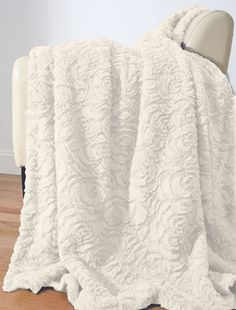 Luxe Rose Fur Throw - Throws - Bedding - Dorm + Apt
