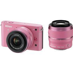Nikon 1 J1 10.1Megapixel Digital Camera with 1030mm30110mm Lens Kit Pink 1 J1 Pink - Best Buy