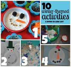 The Iowa Farmer's Wife: Winter Wonderland Blog Hop: 10 Winter-Themed Activities