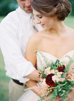 Blush and gold fall wedding ideas | photo by Elisa Bricker Photo | 100 Layer Cake