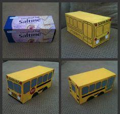 DIY Cracker Box School Bus!