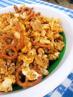 Sweet & Salty Party Mix - Football Friday | Plain Chicken