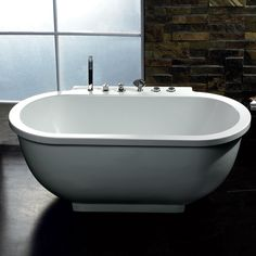 Ariel-128 Free Standing 6 ft Jetted Whirlpool Bath Tub -$1990