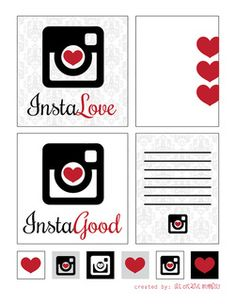 InstaLove Free Printables. Journaling Cards, Filler Cards, Project Life.