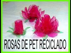 Rosas con botellas de PET