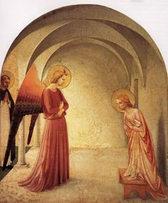 Peinture italienne   Fra Angelico (1387 - 1455) - Annonciation di san, renaiss, florence italy, annunci, fraangelico, art, beato angelico, fra angelico, san marco