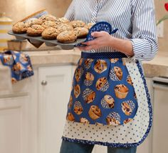 """Baking with Berries Apron"" by Leigh Headington of The Sweet Tea Girls using Bake Sale fabric by Maria Kalinowski for Kanvas."