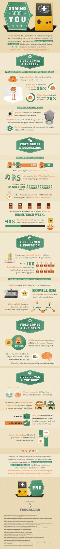 Gaming is Good for You Infographic #gbl #edtech #edtechchat #elearning #classtech #educators #gamification #edchat #Infographic