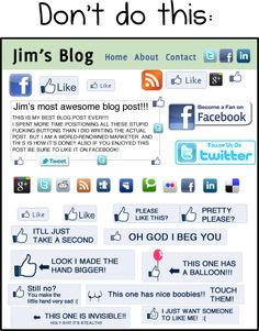 """How NOT to get """"likes"""" #infographic #facebook (repinned by @ricardollera)"""