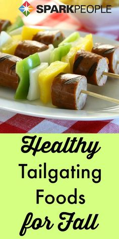 #Healthy #tailgate foods. Fun, unique ideas for #football season! | via @SparkPeople #healthyeating #snack #recipe