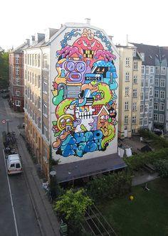 Street art by GR170 in Copenhagen, Denmark