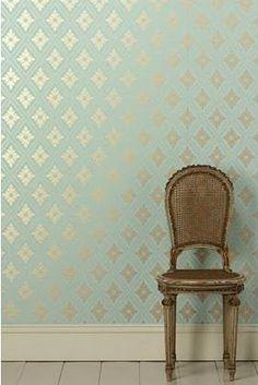 One wall bathroom wallpaper