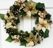Gold Wreath for Christmas