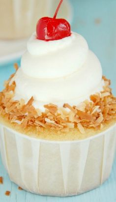 Coconut Laced Tres Leche Cupcakes