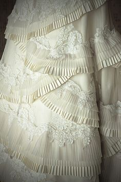 Layer after layer of pleats and lace