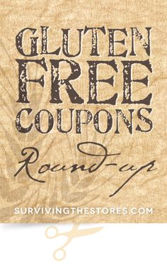 This week's HUGE list of Gluten-Free coupons!!