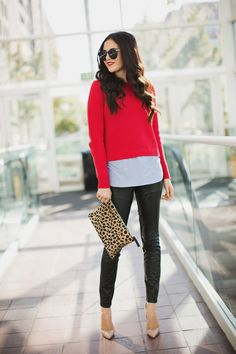 leopard-clare-vivier-clutch Fall Style