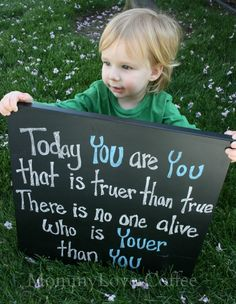 Dr. Seuss quote photo op for kids