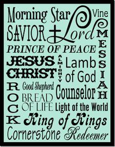 christian, god, faith, names, name of jesus, word wonder, wood word