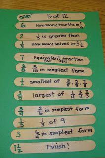 move forward, games, classroom, backward glanc, idea, math centers, fraction math, educ, moving forward