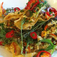 Chef's Dinner Special - Beef wonton salad
