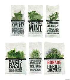 Herbs packaging