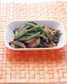 Grilled Green Beans and Red Onion Recipe