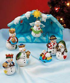 8-Pc. Snowman Nativity Set|ABC Distributing