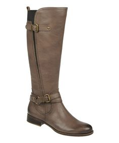 This Modern Gray Leather Juletta Boot by Naturalizer is perfect! #zulilyfinds