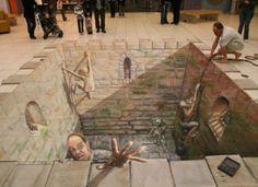 U.K. artist Julian Beever and German artist Edgar Mueller - 3D Sidewalk Art That Will Blow Your Mind (PHOTOS)