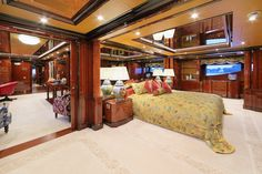 Stateroom with glass ceiling