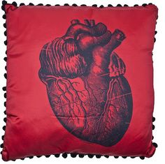 Goth Shopaholic: Sourpuss Pillows for Dark and Gothic Homes - Anatomical heart pillow pillow