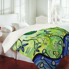 "Madart Inc. ""Happy at Home"" Duvet Cover"