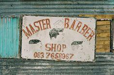 Simon Weller Photography: Master Barbershop, Khayelitsha, Cape Town, Artist: Unknown