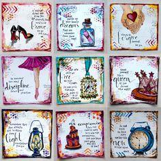 squar, journal idea, journal pages, smash book, art journals, quot