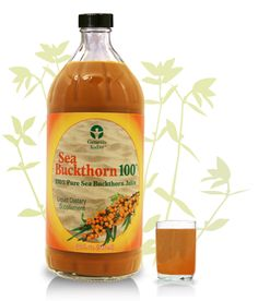 Pure Sea Buckthorn Juice. A true superfood with an unusual (but good!) flavor.