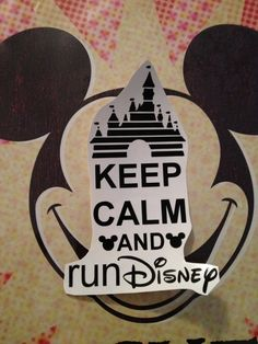 BLACK Keep Calm and Run Disney DECAL ONLY by RunnersBling on Etsy, $5.00